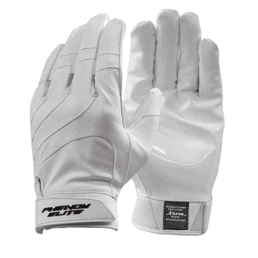 VPF2: White Football Gloves - Phenom Elite