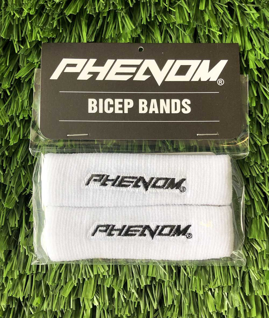 Bicep Bands - White - Phenom Elite Brand