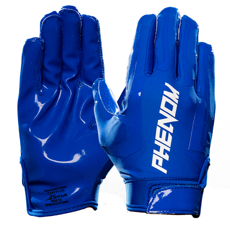 Phenom Elite Royal Blue Football Gloves - VPS1 - Phenom Elite