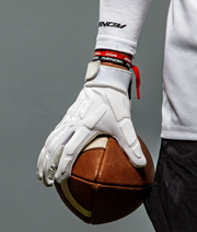 Vapor-Shield: Padded Football Gloves - White
