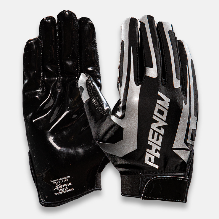 Phenom Elite Black Liquid Football Gloves - VPS1 - Phenom Elite