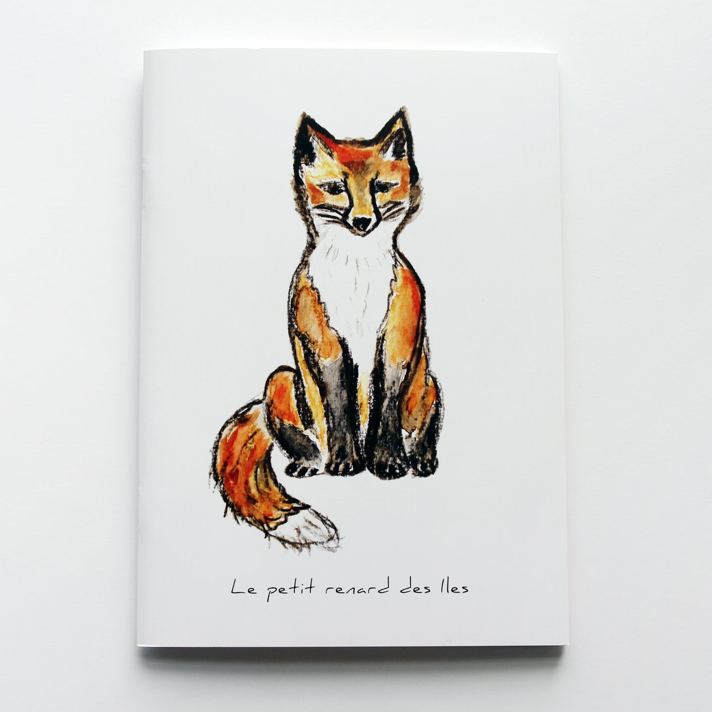 carnet de notes, carnet renard assis, notebook, fox illustration notebook, papeterie renard, fox illustration stationary