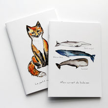 Charger l'image dans la galerie, carnet de notes, carnet renard assis, notebook, fox illustration notebook, papeterie renard, fox illustration stationary