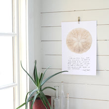 Charger l'image dans la galerie, dollar de sable, affiche dollar de sable sur fond blanc, sand dollar on white background poster, photographie dollar de sable, sand dollar photography, art maritime, martime art, sand dollar, dollar de sable, affiche dollar de sable et calligraphie, sand dollar and calligraphy poster, À Marée Basse