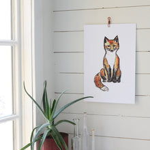Charger l'image dans la galerie, renard, illustration renard, renard assis, affiche renard, fox illustration, red fox, À Marée Basse
