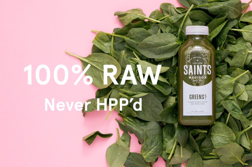 Saints Madison Raw Cold Pressed Juice 100% Vegan never HPP'd