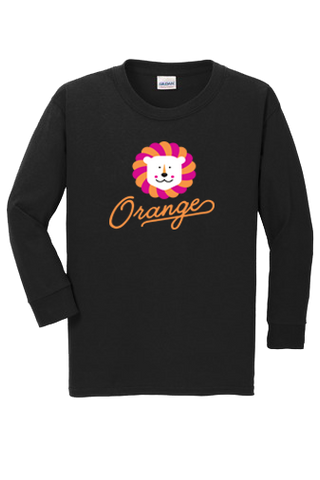 "Youth Long Sleeve ""Happy Lion"" T-Shirt"