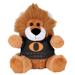 "6"" Plush Orange Lion Mascot"