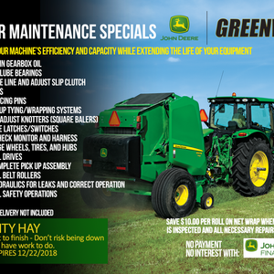 BALER MAINTENANCE SPECIALS