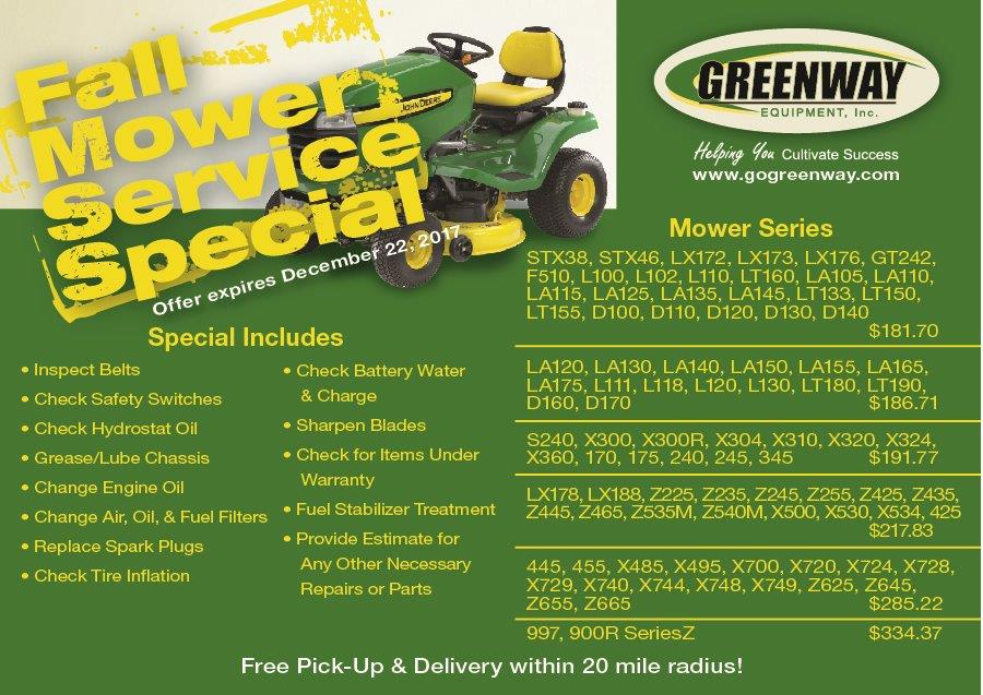 MOWER SERVICE SPECIAL