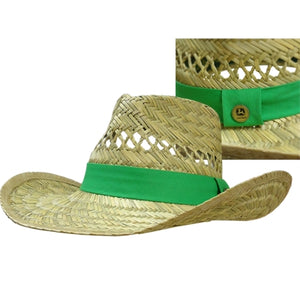 GREEN JOHN DEERE STRAW HAT