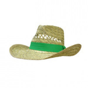 GREEN JOHN DEERE STRAW HAT LP42469