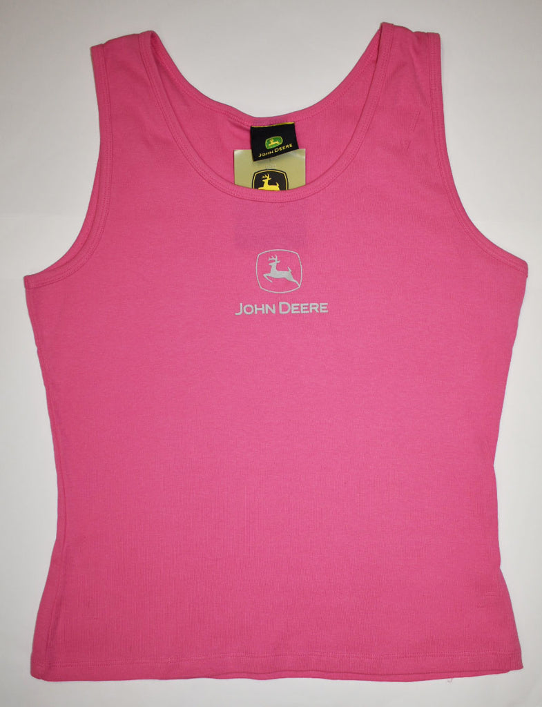 John Deere Ladies Pink Tank Top