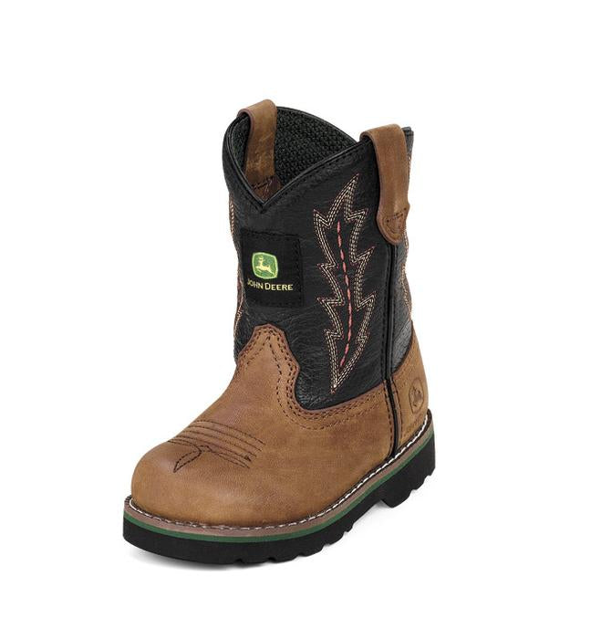 John Deere, Infant Tan/Black Boots, JD1190