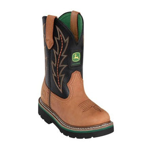 John Deere, Children Tan/Black Boots, JD2190