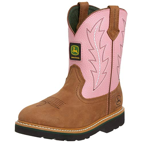 John Deere, Youth Tan/Pink Boots, JD3185