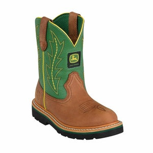 John Deere, Youth Tan/Green Boots, JD3186