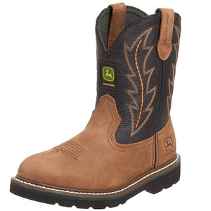 John Deere, Youth Tan/Black Boots, JD3190