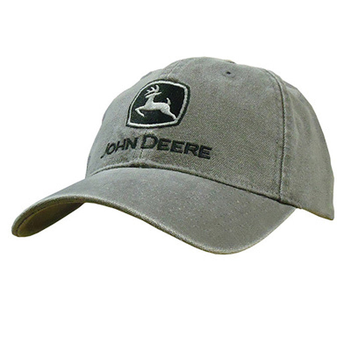 John Deere Men's Heavy Washed Canvas Cap in Charcoal Product ID: LP47322