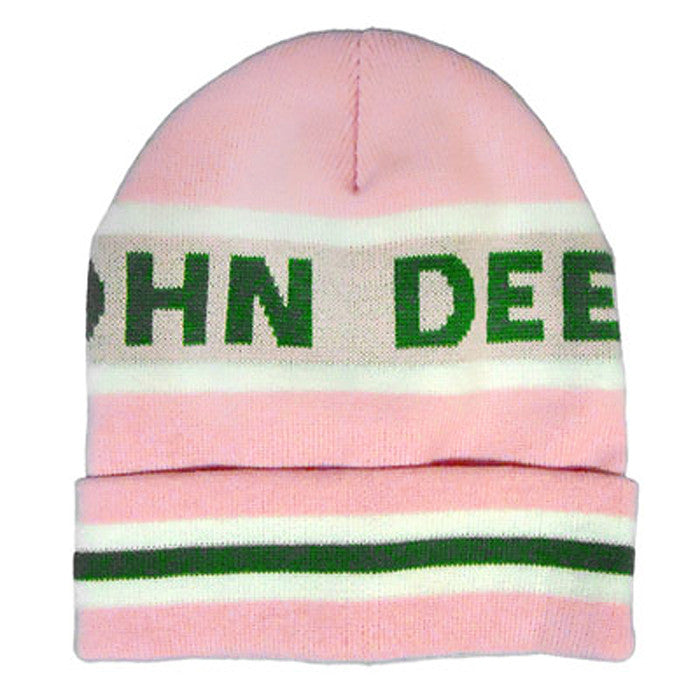 John Deere Knit Beanie with Pink Cuff Product ID: LP47339
