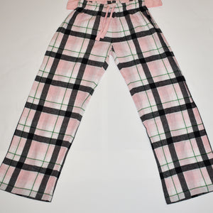 John Deere Women's Pink and Plaid Sleep Set