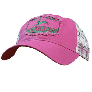 Ladies Distressed Vintage Plaid Cap Product ID: LP48325