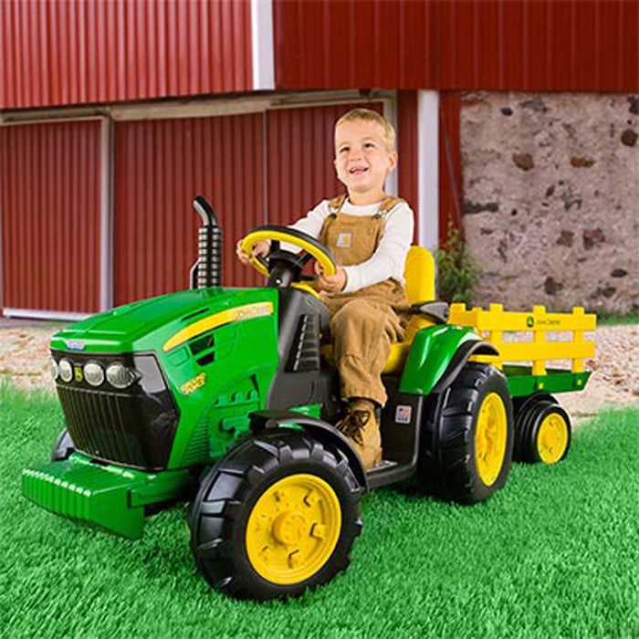 John Deere 12 Volt Ground Force With Trailer Product ID: LP49517