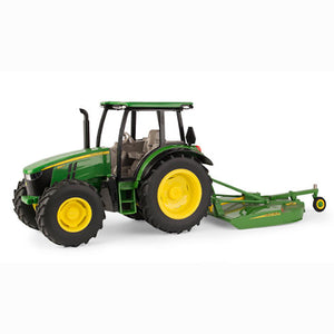 JOHN DEERE 1/16 5125R Toy Tractor with Rotary Cutter #LP68839
