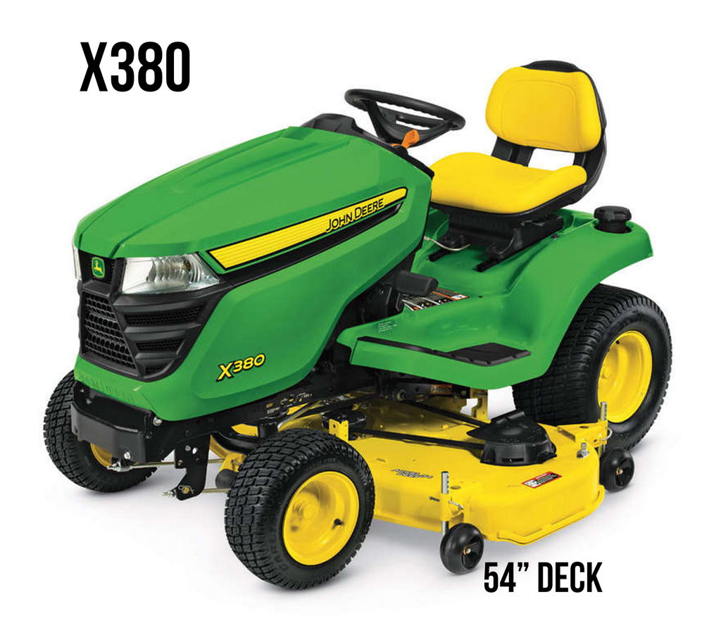 X380 Lawn Tractor 54 in. Deck