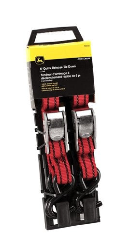 6-FT JOHN DEERE CAM-BUCKLE TIE DOWN STRAP SET TY25783