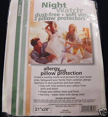 A GREAT BUY-QUEEN-PILLOW PROTECTOR--STOPS BED BUGS DUSTMITES WATERPROOF-ZIPPERED