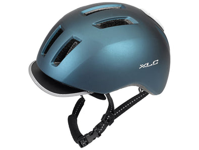 XLC + led light helmet blue