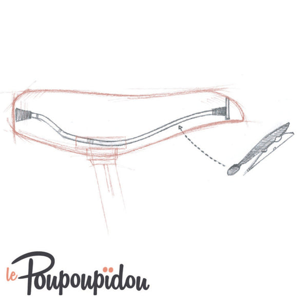 Le Poupoupidou - Skirt clip for bicycles