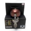 Crane Bell Co. E-Ne Bicycle Bell w/ Clamp Band Mount - Brown