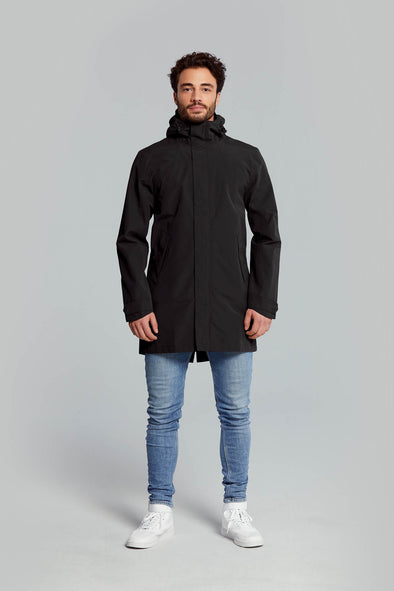 Basil Mosse rain parka men  - black