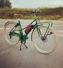 Vintage retro green aer looking electric bike ireland ebike dublin pashley lugged steel classic Dutch bike electric bike Dublin electric bike Ireland electric bike
