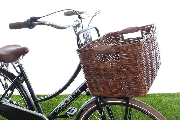 rectangular bike wicker basket