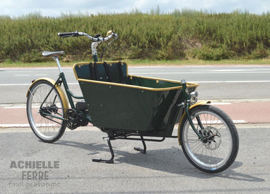 Vintage retro green aer looking electric bike ireland pashley lugged steel classic Dutch bike electric bike Dublin electric bike Ireland electric cargo bike