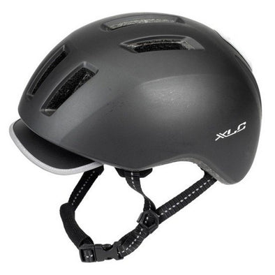 XLC + led light helmet black