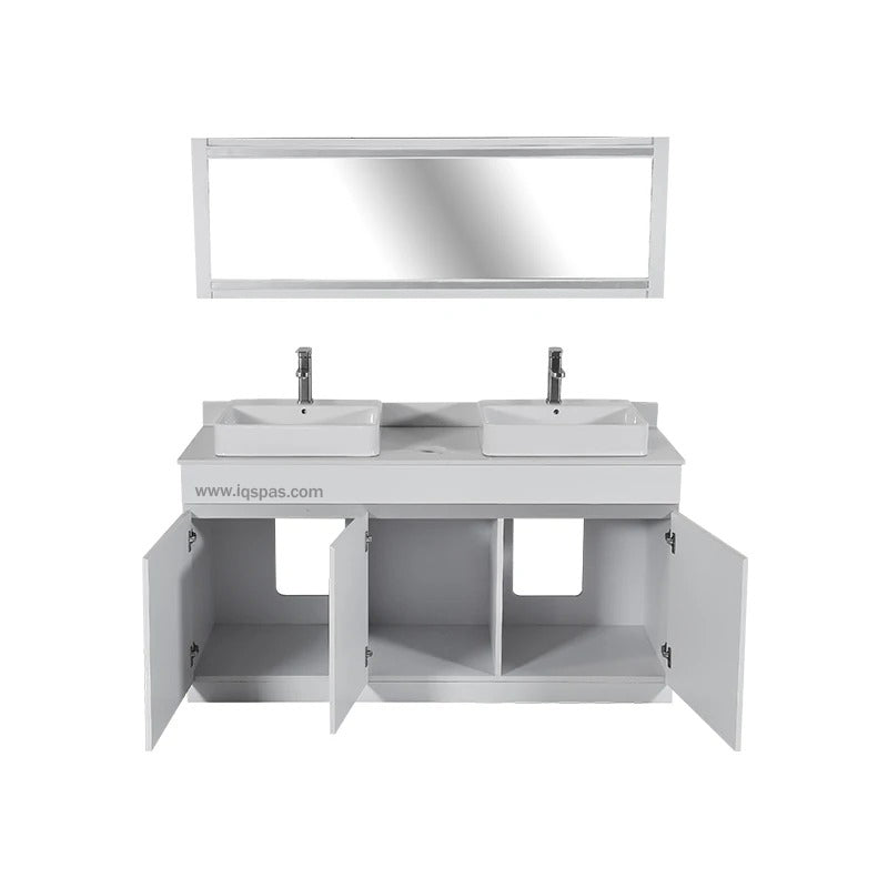 V-Double Sink (W/Faucets)