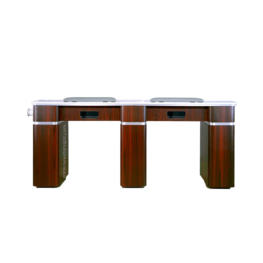 Q Double Nail Table With Pipe- 72 1/2""