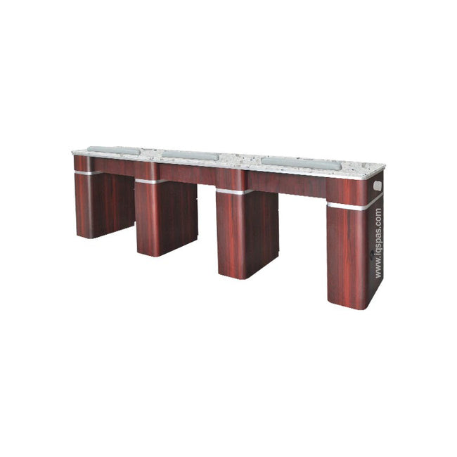 Q Triple Nail Table With Pipe - 103 1/2""