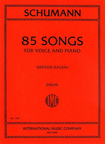 85 Songs for High Voice & Piano - Schumann