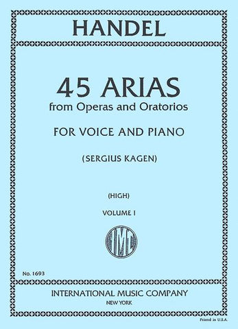 45 Arias for High Voice and Piano, Volume 1 - Händel