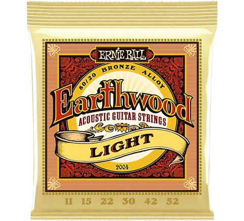Ernie Ball Earthwood Light 80/20 Bronze Acoustic Guitar Strings, 11-52