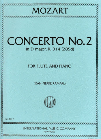 Concerto No. 2 in D Major, K. 314 for Flute and Piano - Mozart
