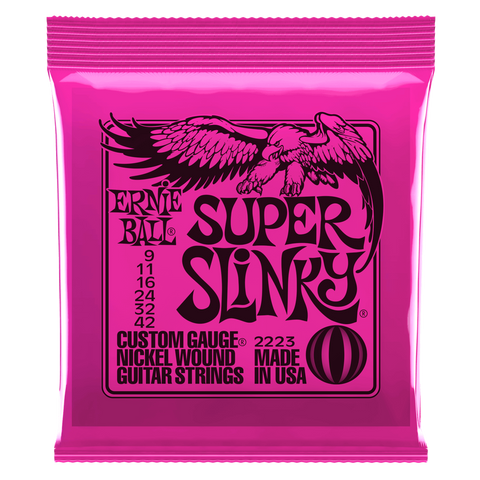 Ernie Ball Super Slinky Electric Guitar Strings, 09-42