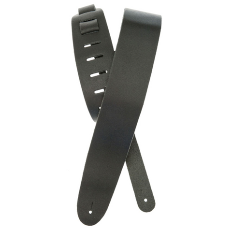 D'Addario Black Classic Leather Guitar Strap