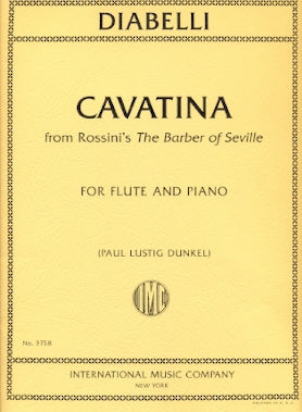 Cavatina from Rossini's The Barber of Seville for Flute and Piano - Diabelli