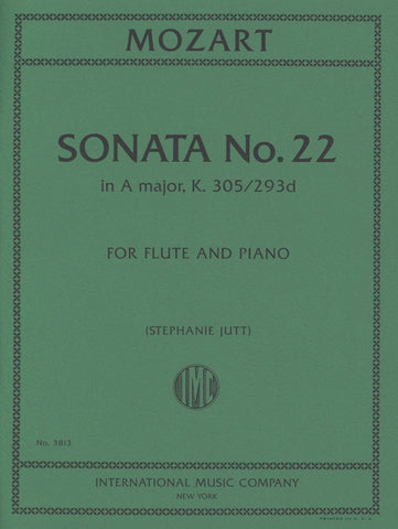 Sonata No 22 in A Major K 305/293d for Flute and Piano - Mozart